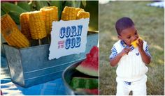 Loralee Lewis Great American Picnic. Great way to display corn on the cob!