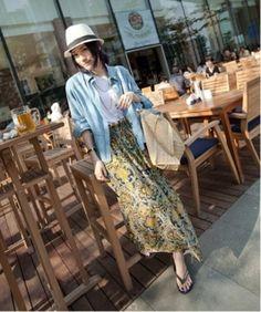 Love this dress! Long Maxi Skirts, Short Skirts, Cheap Summer Dresses, Japanese Fashion, Dress Brands, Bohemian Style, Shirt Dress, Retro, My Style