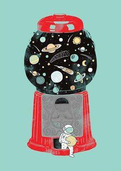 Is this how we lost Pluto? heehee - Art print by Lim Heng Swee