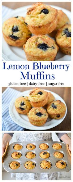 A yummy, quick recipe for Lemon Blueberry Muffins that will be a delight to serve your family. Gluten free, Dairy free, Sugar free, Low-carb THM-S