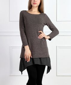 Another great find on #zulily! Charcoal Tier Sidetail Tunic #zulilyfinds