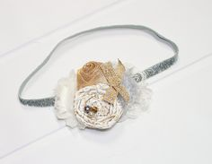 Jungle Bells - headband in of white, cream, silver and gold with plenty of sparkle and glitz  (RTS) by SoTweetDesigns on Etsy