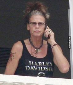 Steven Tyler is Starting to Look Like a Cool Grandma