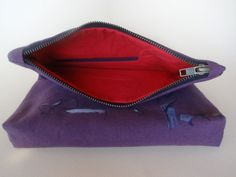 Foldover Urban Glam Violet Clutch Bag Hand Painted by koatye1