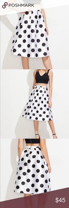 🆕👄polka dot box pleated volume skirt Items#HPX1448409N measurements see photo details above Skirts Midi