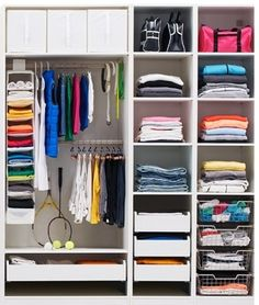 PAX wardrobe is adaptable to your every storage need, with or without doors the choices is yours.