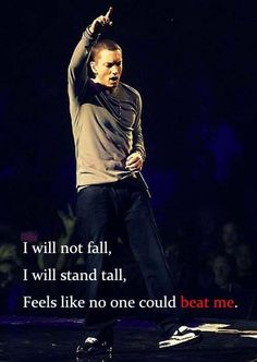 """""""Feels like no one could beat me"""". #Eminem #TillICollapse"""