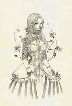 Jasmine Darnell on Etsy.com Louisa - Original Drawing