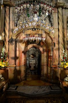 where Christ's tomb is located, in the Church of the Holy Sepulcher, Jerusalem. www.ffhl.org #Franciscan #HolyLand