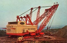 big muskie dragline pictures | Postcard - Big Muskie - world's largest dragline - Ohio 1970's