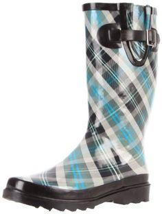Henry Ferrera OMG-200 Black Rubber Low Heel Knee High Rain Boots