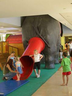 Elephant bum play slide