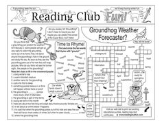 Enjoy a GROUNDHOG DAY and WEATHER-themed Two-Page Activity Set and Crossword Puzzle with this discounted bundle! Includes the following products:   Groundhog Day and Weather Two-Page Activity Set;  Groundhog Day and Weather Crossword Puzzle; reading log & certificate set.