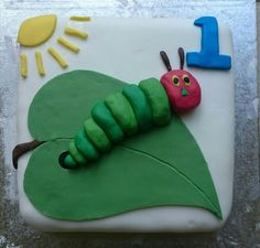 Hungry caterpillar cake.  My attempt!!
