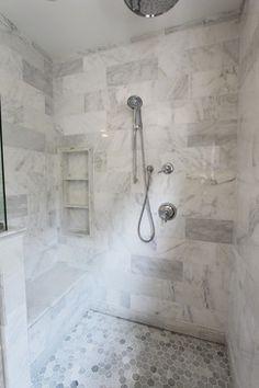 Hiddendrain.com custom shower with hidden drain
