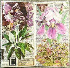 Vintage Children's Books, Vintage Paper, Altered Books, Altered Art, Zentangle, Glue Book, Collage Art Mixed Media, Garden Journal, Collage Artists