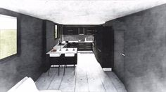 Designed kitchen,render