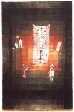 """The Mountain of the Sacred Cat"" by Paul Klee     16 Brilliant Artists And Their Animal Muses"