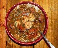 Smokey Creole Gumbo with Hot Sauce - Creole Contessa