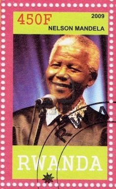 RWANDA - CIRCA 2009 Nelson Mandela - former President of South Africa, has received 1993 Nobel Peace Prize, circa 2009 Stock Photo Nelson Mandela Day, Signed Sealed Delivered, Postage Stamp Collection, Nobel Prize Winners, Nobel Peace Prize, Living Legends, Former President, African History, Stamp Collecting