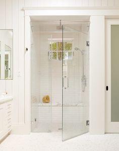 Doorless shower designs bathroom traditional with tile floors white tile