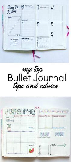 Bullet journal tips and advice #bujo #plannertips #plannercommunity