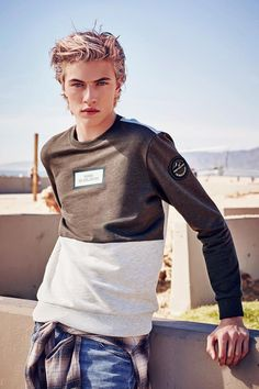 Lucky Blue Smith is a sporty vision for Isenberg's spring-summer 2016 campaign.