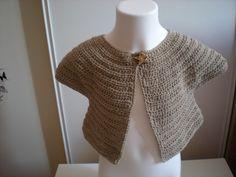gilet bébé fille au crochet sans couture : Mode Bébé par nany-made