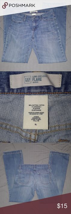 Gap flare denim size 6L Long and lean flare stretch size 6 gently worn GAP Jeans Flare & Wide Leg