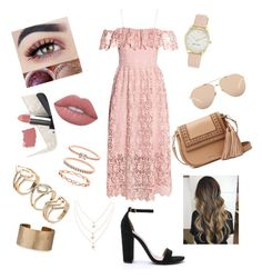 """Dress"" by andreacoreas ❤ liked on Polyvore featuring H&M, Steve Madden, Kate Spade, Linda Farrow, Panacea, Accessorize, Nine West, Lime Crime and Sigma"