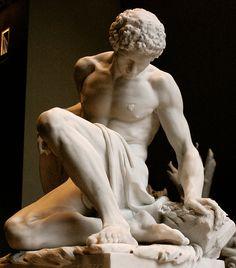 Dying gladiator Pierre Julien, 1779. Paris, Louvre.