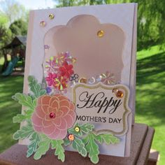 Mother's Day Inspiration with June: Hello and welcome Quick Quote fans, June here today! Here is a fun and pretty Mother's Day card. Jennifer McGuire recently had a video showing how to use tulle to create a shaker card. I decided to try it using Quick Quote products. Check it out:
