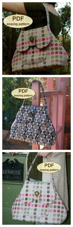 INSTANT DOWNLOAD Sewing pattern to make the Anglia Bag - PDF pattern.