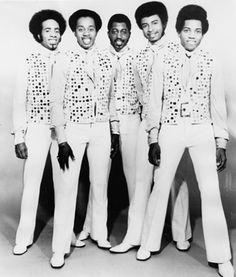 Richard Street, Melvin Franklin, Otis Williams, Dennis Edwards and Damon Harris of the Temptations.