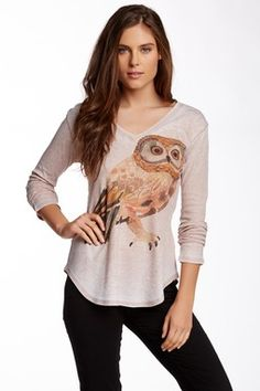 V-Neck Long Sleeve Thermal Tee