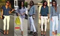 Look do Dia = Calça Branca + Camisa Azul