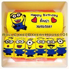Minion Paint Roll Cake^_^ รับทำ Roll Cake ตาม Order ค่ะ ที่ ร้านอาหาร Bakeryhouse 101 Sukhumvit101/1