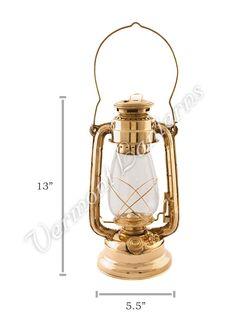 Hurricane Oil Lamp - Brass - 13