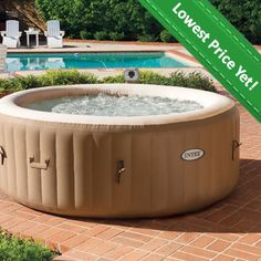Create a relaxing oasis in your backyard with thisIntex Hot Tub PureSpa Bubble Therapy Inflatable Spa. Its inflatable design makes it easy to store when not in use, and with capacity for up to four, it's great for the whole family.
