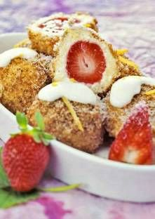 Recette de Quenelles au fromage blanc et aux fraises