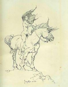 frank frazetta sketch