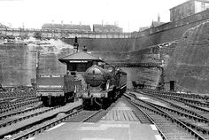 Approaching Nottingham Victoria Station from the north in July 1947