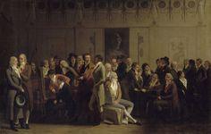 Louis-Léopold Boilly (1761-1845)  L'Atelier d'Isabey, Salon de 1798  Huile sur toile - 71,5 x 111 cm  Paris, Musée du Louvre