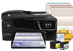 Versa Check HP6600-3611 Wireless Color Printer with Scanner, Copier and Fax - List price: $329.99 Price: $307.77 Saving: $22.22 (7%)