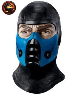 Get a totally authentic Sub Zero look with this Mortal Kombat Sub Zero Deluxe Overhead Costume Latex Mask. Take home this awesome looking mask today.