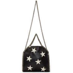 Stella McCartney Black & White Shaggy Deer Mini Falabella Bag