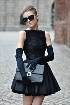 A-line Vintage Little Black Dress