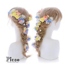 . Gallery 601 . 【 結婚式 #髪飾り 】 . #Picco #オーダーメイド髪飾り #カラードレス #結婚式 . 素敵な柄がちりばめられたドレスに合わせて、同じ配色のお花で盛り付けたラプンツェルスタイルです ✨. メインのイエローローズにはプリザを使用しています #プリザーブドフラワー #ローズ #ラプンツェル #プリンセス #ウェディングヘア . デザイナー @mkmk1109 . . . #ヘッドパーツ #ヘッドアクセ #ヘッドドレス #花飾り #造花 #着物 #披露宴 #パーティー #プレ花嫁 #花嫁 #ウェディングフォト #結婚式前撮り #結婚式準備 #ドレス #プレ花嫁 #ウェディング #ウェディングアイテム #ブライダルフォト #ウェディング小物 #rapunzel #wedding