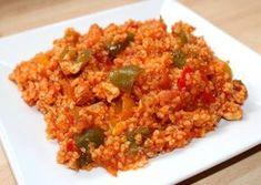 Paradicsomos-csirkés bulgur Crossfit Diet, Good Food, Yummy Food, Hungarian Recipes, Hungarian Food, Creative Food, Fried Rice, Meat Recipes, Food And Drink