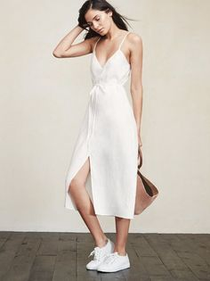For your consideration, the wrap dress. With the Charlotte Dress you can adjust the tightness to fit your day, 'cause let's face it, we have bloated days and skinny days. https://www.thereformation.com/products/charlotte-dress-newtown?utm_source=pinterest&utm_medium=organic&utm_campaign=PinterestOwnedPins